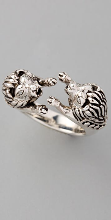 Elizabeth and James Lion Ring