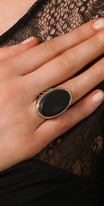 Elizabeth and James Onyx Ring