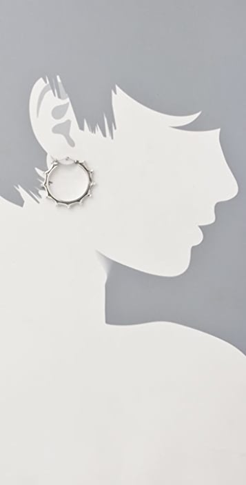 Elizabeth and James Round Scalloped Hoops