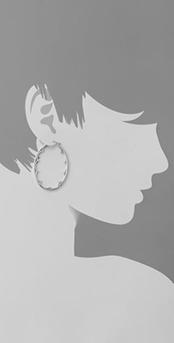 Elizabeth and James Large Scalloped Oval Hoops