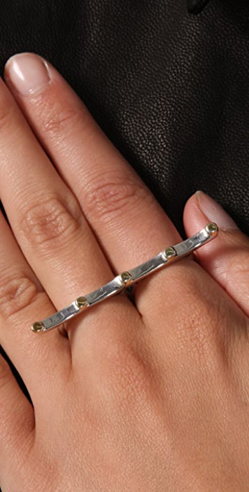 Elizabeth and James Studded Two Finger Ring