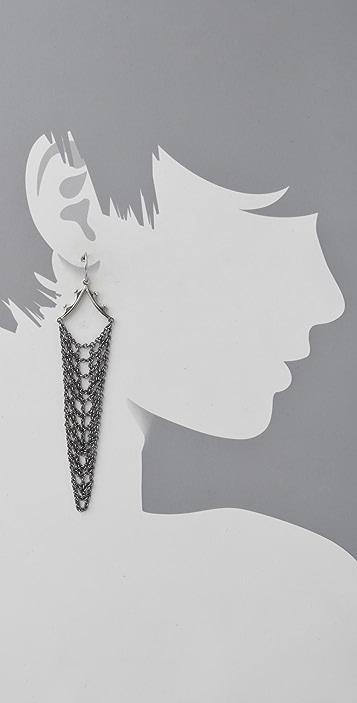 Elizabeth and James Mesh Draping Earrings
