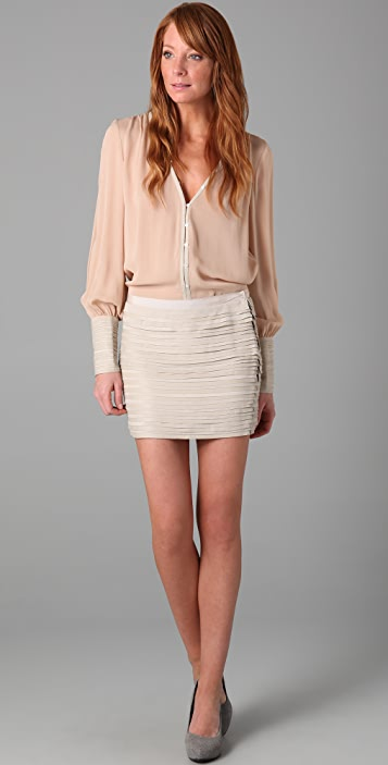 Elizabeth and James Celeste Leather Miniskirt