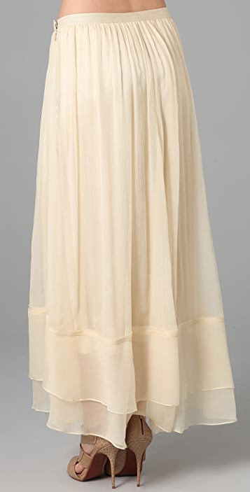 Elizabeth and James Maxi Flared Skirt