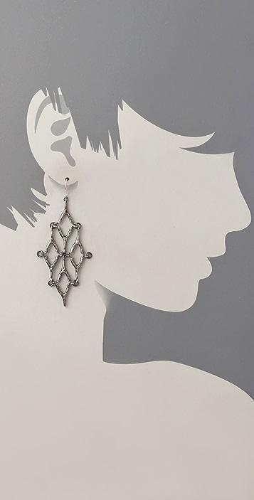 Elizabeth and James Wishbone Mesh Earrings