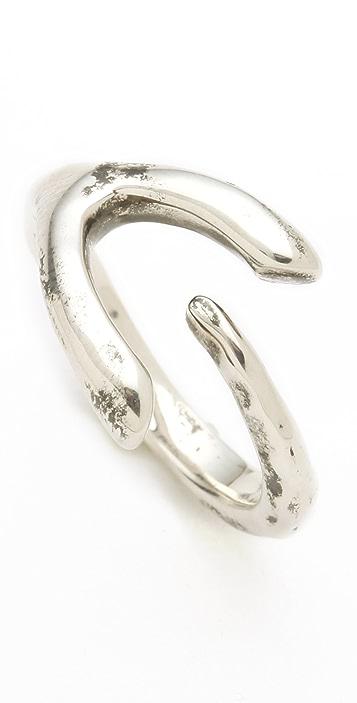 Elizabeth and James Curled Wishbone Ring