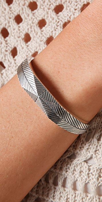 Elizabeth and James Textured Feather Stud Cuff