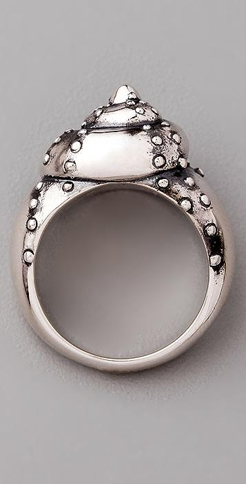 Elizabeth and James Large Seashell Ring
