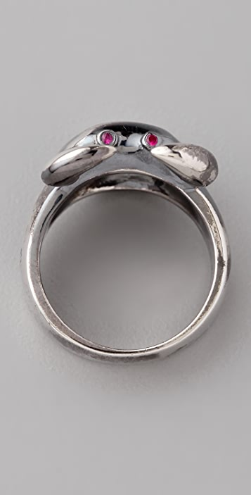 Elizabeth and James Crab Ring with Ruby Eyes