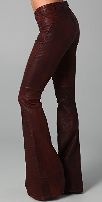 Elizabeth and James Bell Bottom Leather Pants