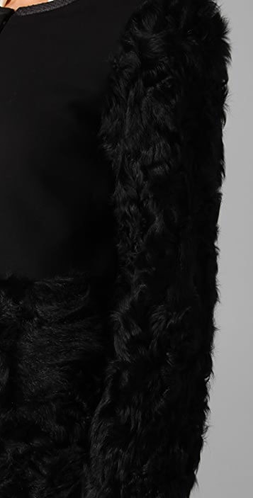 Elizabeth and James Tilda Shearling Combo Coat