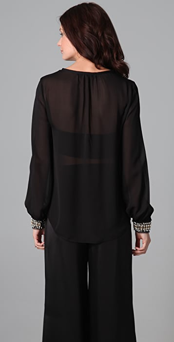 Elizabeth and James Embellished Chantal Blouse