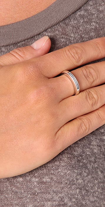 Elizabeth and James Architecture Diamond Stacking Ring