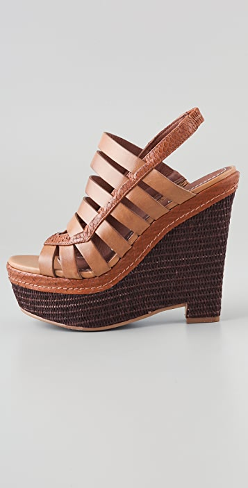 Elizabeth and James Silva Wedge Platform Sandals