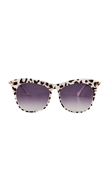 Elizabeth and James Limited Edition Leopard Fairfax Sunglasses