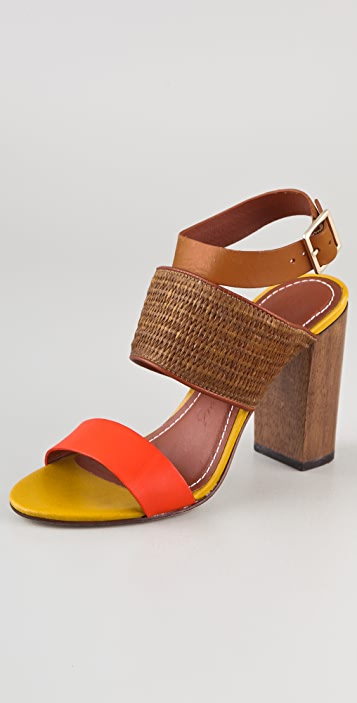 Elizabeth and James Clair Colorblock Sandals