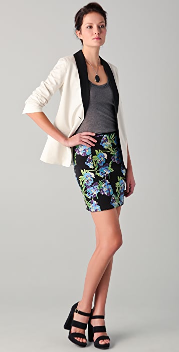 Elizabeth and James Floral Printed Scuba Skirt
