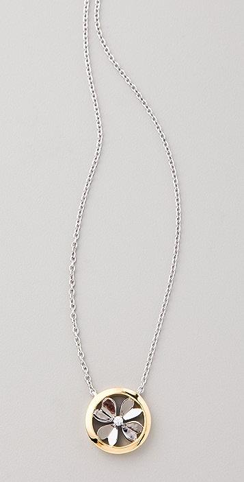 Elizabeth and James Round Clover Pendant Necklace