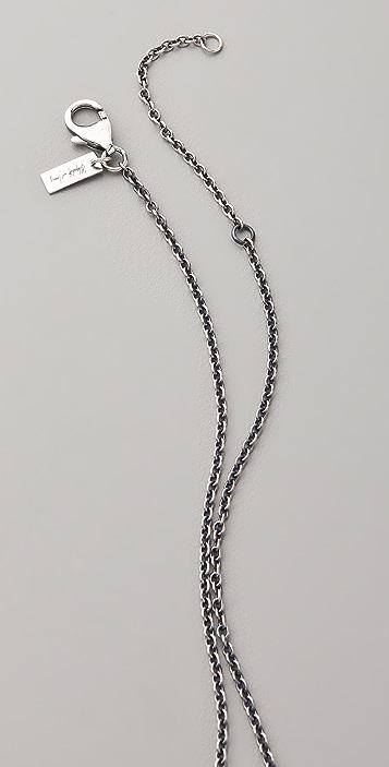 Elizabeth and James Saddle Matte Onyx Pendant Necklace