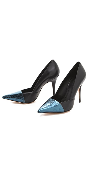 Elizabeth and James Sash Snake d'Orsay Pumps