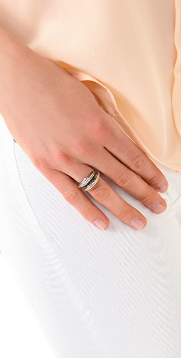 Elizabeth and James White Sapphire Feather Ring