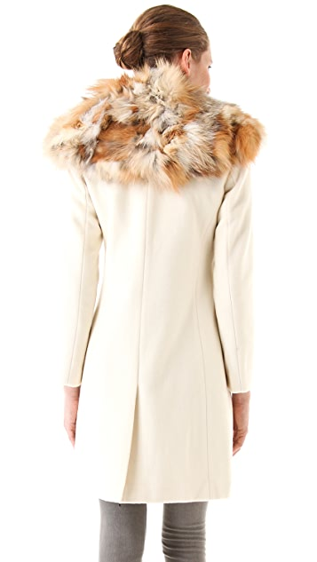 Elizabeth and James Janeane Coat with Fur