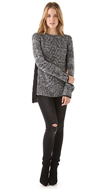Elizabeth and James Colorblock Pullover
