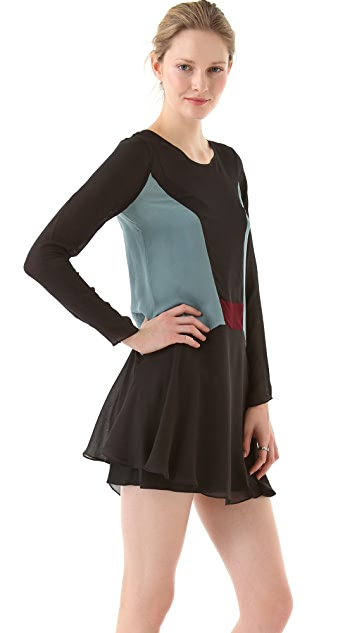Elizabeth and James Paloma Colorblock Dress