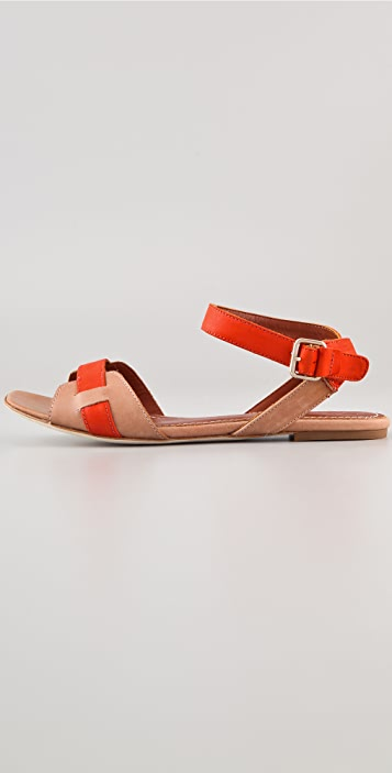 Elizabeth and James Paige Flat Sandal With Ankle Strap