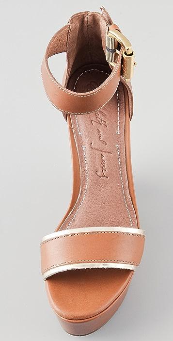 Elizabeth and James Sibil Wedge Platform Sandals