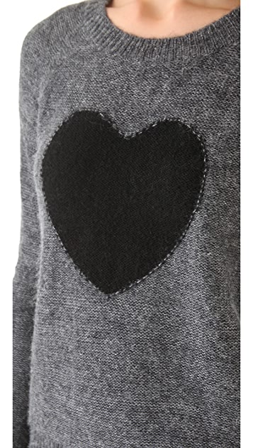 Elizabeth and James Heart Intarsia Pullover