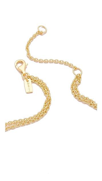 Elizabeth and James White Sapphire Serpentine Necklace