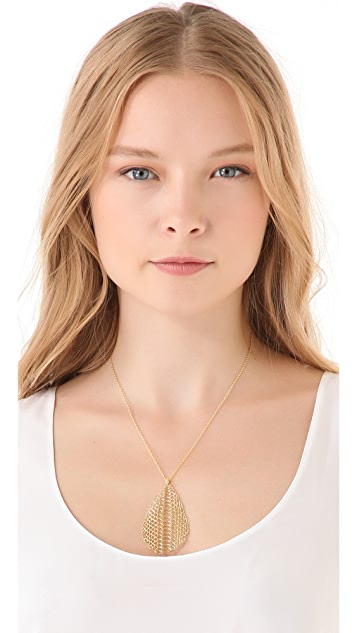 Elizabeth and James White Sapphire Serpentine Pendant Necklace
