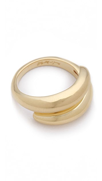 Elizabeth and James Meadowlark Coil Ring