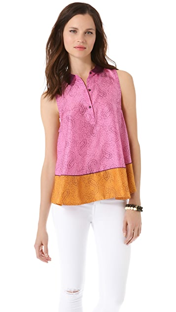 Elizabeth and James Aura Sleeveless Collar Top