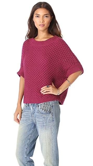 Elizabeth and James Textured Boxy Pullover