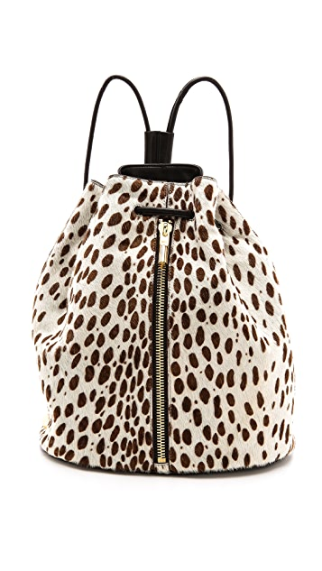 Elizabeth and James Printed Haircalf Sling Bag
