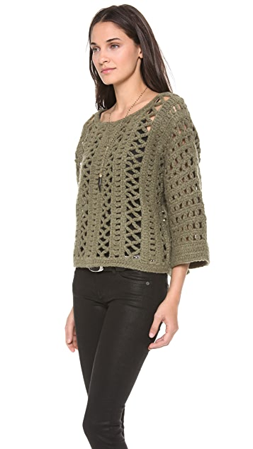 Elizabeth and James Crochet Pullover