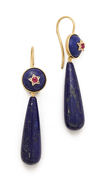 Elizabeth and James Plated Victorian Star Teardrop Earrings