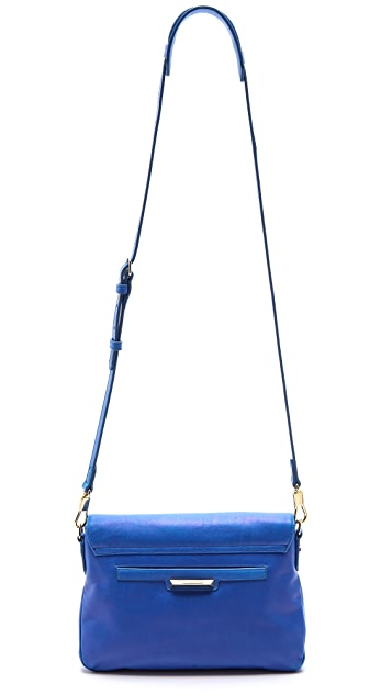 Elizabeth and James Coated Leather Mini Cross Body Bag