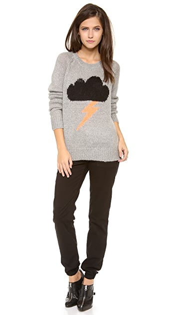 Elizabeth and James Raincloud Intarsia Sweater