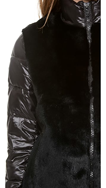 Elizabeth and James Austin Fur Puffer Coat