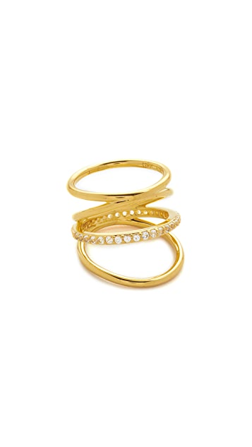 Elizabeth and James Mondrian Pave Ring