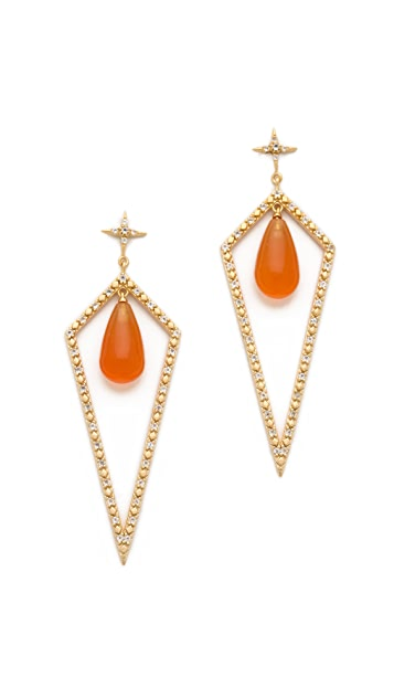 Elizabeth and James Northern Star Shield Earrings