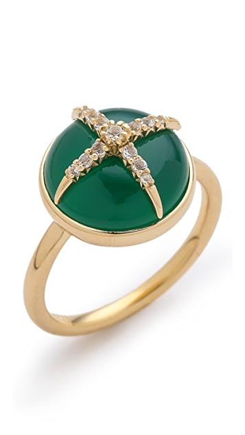 Elizabeth and James Northern Star Cabochon Ring