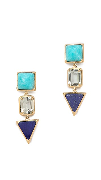 Elizabeth and James Metropolis Trio Drop Earrings