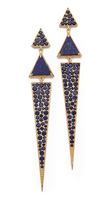 Elizabeth and James Chrysler Pave Triangle Earrings