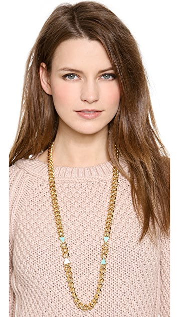 Elizabeth and James Metropolis Triangle Charm Necklace