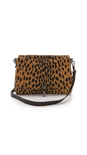 Elizabeth and James Cynnie Mini Haircalf Cross Body Bag
