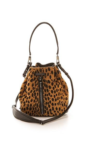 Elizabeth and James Cynnie Mini Haircalf Bucket Bag
